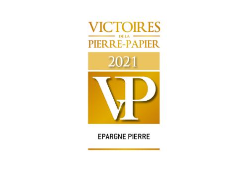 ÉPARGNE PIERRE élue Meilleure SCPI à capital variable diversifiée, actifs supérieurs à 500 M aux Victoires de la Pierre Papier 2021
